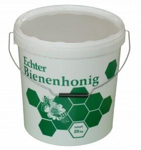 Kunststoff Honigeimer 25kg Inhalt bedruckt