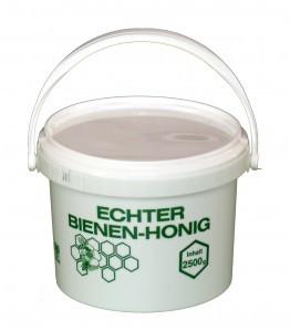 Kunststoff Honigeimer 2,5kg Inhalt bedruckt