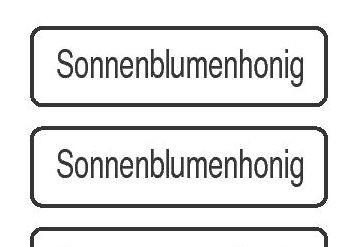 Sortenetikett 'Sonnenblumenhonig'
